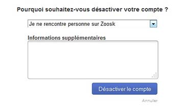 Comment supprimer zoosk rencontre