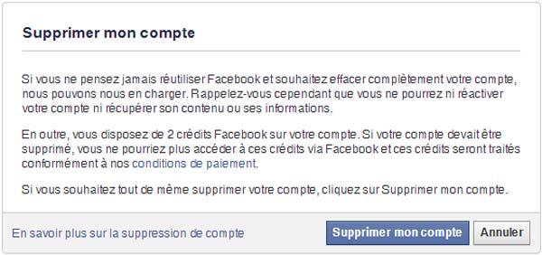 fermer compte facebook