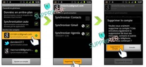 supprimer compte email android