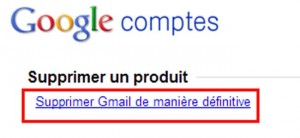 supprimer messagerie gmail