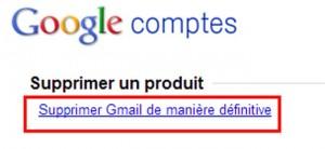 supprimer messagerie gmail