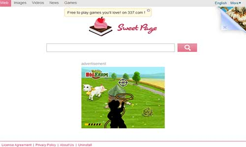 supprimer sweet page