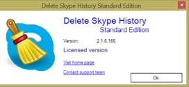 effacer discussion skype