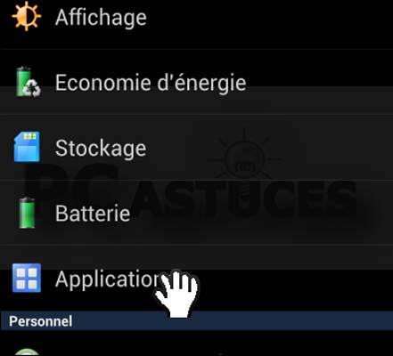 supprimer appliation sur android