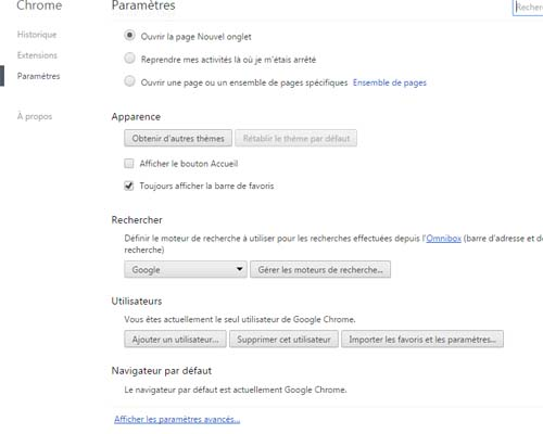 supprimer istart.webssearches.com de chrome
