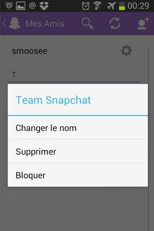 changer nom snapchat