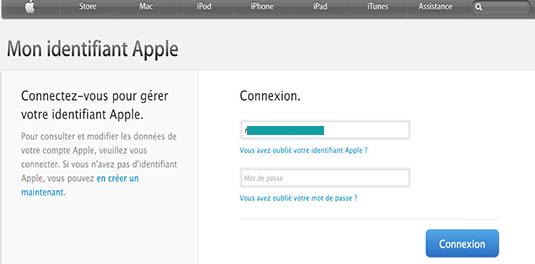 supprimer ID apple store