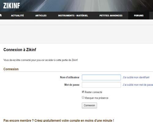 supprimer compte Zikinf