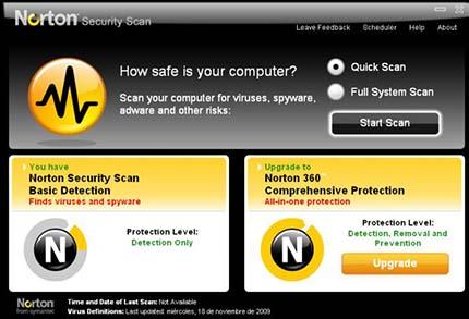 effacer norton security