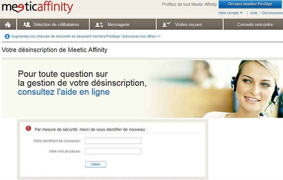 fermer compte meetic affinity