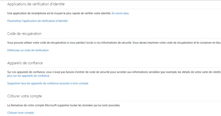 fermer un compte outlook