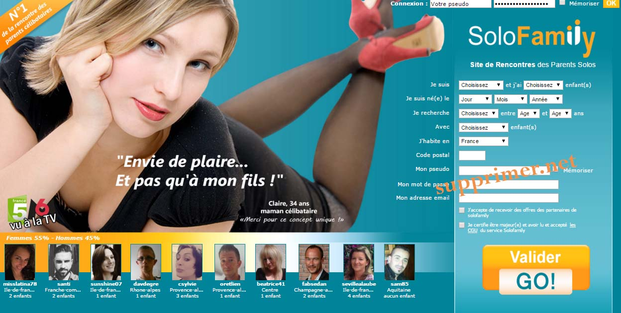 supprimer compte solofamily