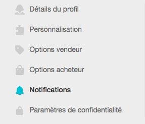 Annuler les notifications Vinted.fr