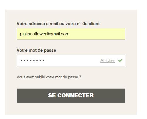 Se connecter au compte Damart