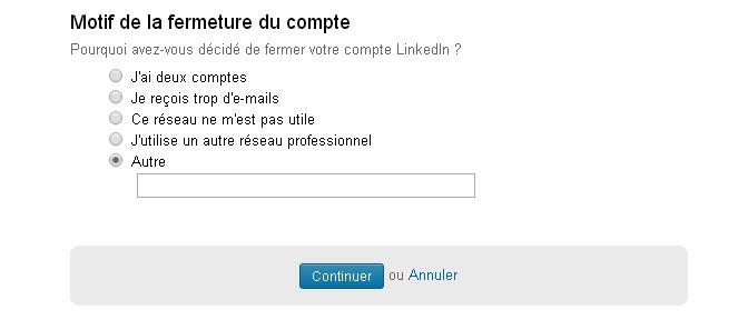 désactiver compte LinkedIn définitivement