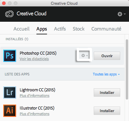 désinstaller application creative cloud