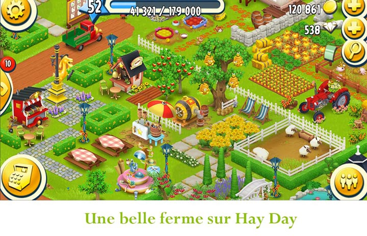 récupérer une ferme Hay Day