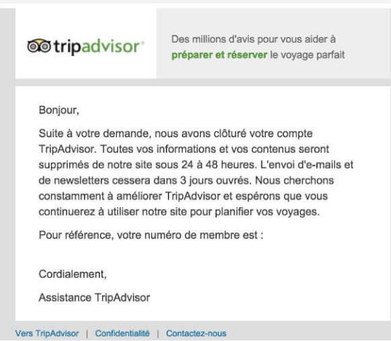 Contacter service client Tripadvisor