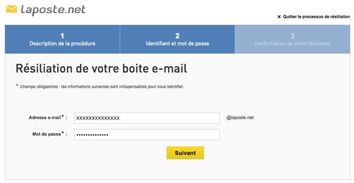 supprimer votre adresse mail Laposte.net