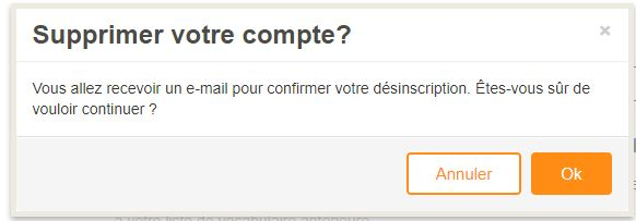 confirmer la suppression de votre compte Babbel