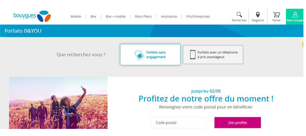 resilier forfait B&You mobile