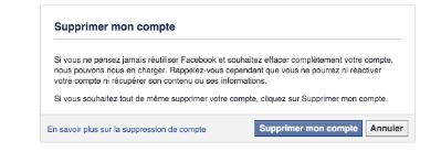 comment supprimer un compte facebook messenger