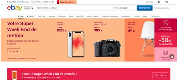 accès au site ebay