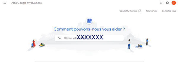 contacter le service client Google My Business