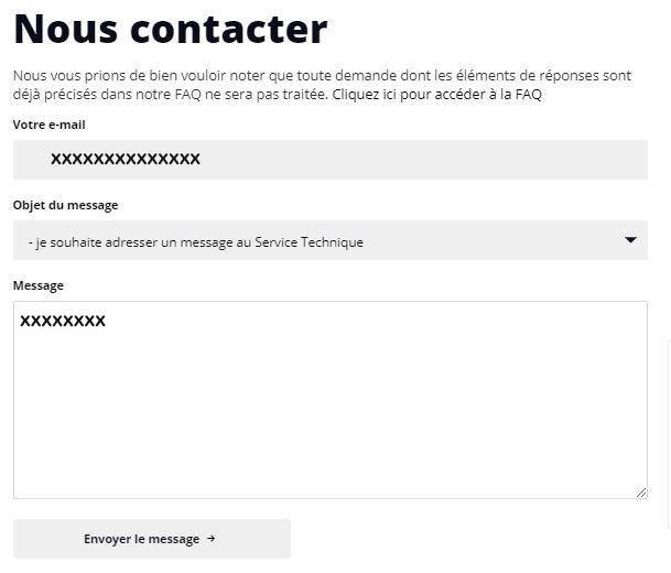 Contacter service client Boursier