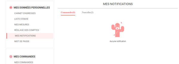 annuler les notifications romwe