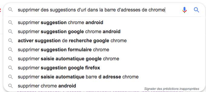 Supprimer des suggestions d'URL de la barre d'adresses de Google Chrome