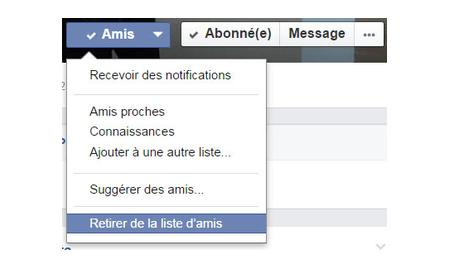 Supprimer un compte Messenger