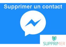 Supprimer un contact sur Messenger