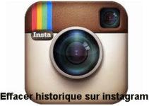 Effacer historique de recherche sur instagram