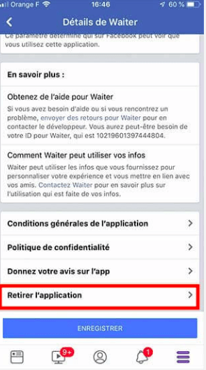 retirer l'application de rencontre