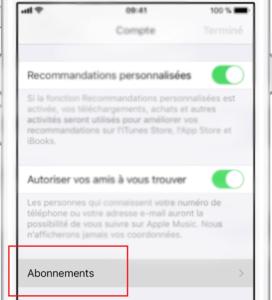 Résilier un abonnement Adopteunmec sur iPhone (App Store)