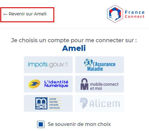 Récupérer un compte Ameli avec FranceConnect