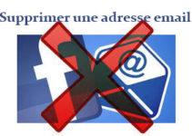 Supprimer une adresse mail principale facebook