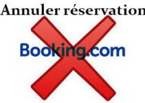 Annuler une réservation sur Booking